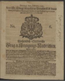 Wochentlich-Stettinische Frag- und Anzeigungs-Nachrichten. 1740 No. 6