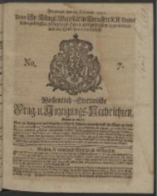 Wochentlich-Stettinische Frag- und Anzeigungs-Nachrichten. 1740 No. 7