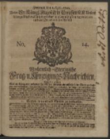 Wochentlich-Stettinische Frag- und Anzeigungs-Nachrichten. 1740 No. 14