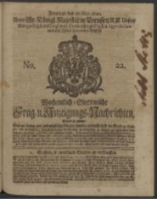 Wochentlich-Stettinische Frag- und Anzeigungs-Nachrichten. 1740 No. 22