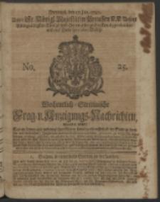 Wochentlich-Stettinische Frag- und Anzeigungs-Nachrichten. 1740 No. 25