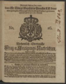Wochentlich-Stettinische Frag- und Anzeigungs-Nachrichten. 1740 No. 26
