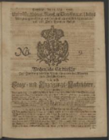 Wochentliche Stettinische zur Handlung nützliche Preis-Courante der Waaren und Wechsel-Cours, wie auch Frage- und Anzeigungs-Nachrichten. 1728 No. 9