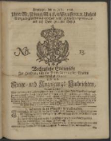 Wochentliche Stettinische zur Handlung nützliche Preis-Courante der Waaren und Wechsel-Cours, wie auch Frage- und Anzeigungs-Nachrichten. 1728 No. 15
