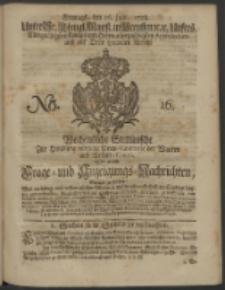 Wochentliche Stettinische zur Handlung nützliche Preis-Courante der Waaren und Wechsel-Cours, wie auch Frage- und Anzeigungs-Nachrichten. 1728 No. 16