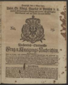 Wochentlich-Stettinische Frag- und Anzeigungs-Nachrichten. 1742 No. 19
