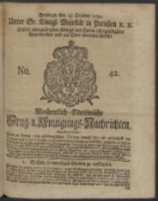 Wochentlich-Stettinische Frag- und Anzeigungs-Nachrichten. 1742 No. 42