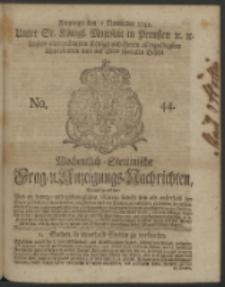 Wochentlich-Stettinische Frag- und Anzeigungs-Nachrichten. 1742 No. 44