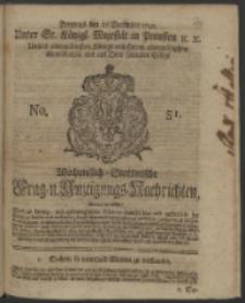 Wochentlich-Stettinische Frag- und Anzeigungs-Nachrichten. 1742 No. 51