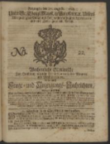 Wochentliche Stettinische zur Handlung nützliche Preis-Courante der Waaren und Wechsel-Cours, wie auch Frage- und Anzeigungs-Nachrichten. 1728 No. 22