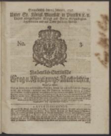 Wochentlich-Stettinische Frag- und Anzeigungs-Nachrichten. 1747 No. 3