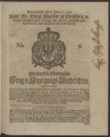 Wochentlich-Stettinische Frag- und Anzeigungs-Nachrichten. 1747 No. 4