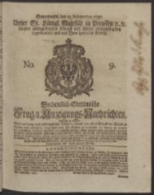 Wochentlich-Stettinische Frag- und Anzeigungs-Nachrichten. 1747 No. 9