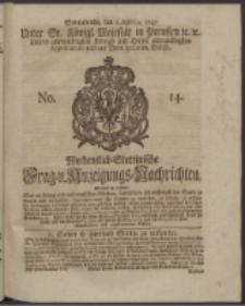 Wochentlich-Stettinische Frag- und Anzeigungs-Nachrichten. 1747 No. 14
