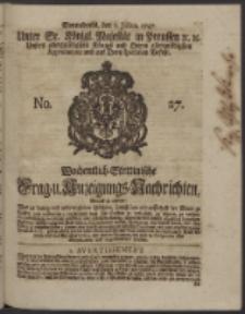 Wochentlich-Stettinische Frag- und Anzeigungs-Nachrichten. 1747 No. 27
