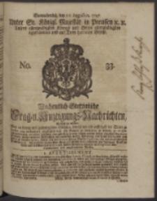 Wochentlich-Stettinische Frag- und Anzeigungs-Nachrichten. 1747 No. 33