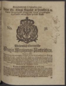 Wochentlich-Stettinische Frag- und Anzeigungs-Nachrichten. 1747 No. 38