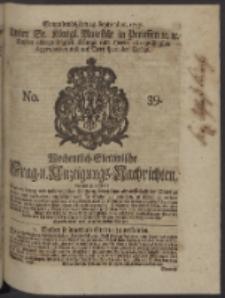 Wochentlich-Stettinische Frag- und Anzeigungs-Nachrichten. 1747 No. 39