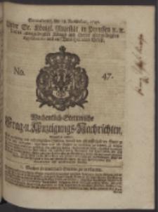 Wochentlich-Stettinische Frag- und Anzeigungs-Nachrichten. 1747 No. 47