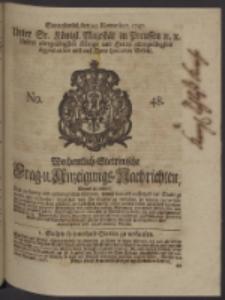 Wochentlich-Stettinische Frag- und Anzeigungs-Nachrichten. 1747 No. 48