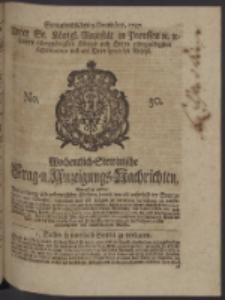 Wochentlich-Stettinische Frag- und Anzeigungs-Nachrichten. 1747 No. 50