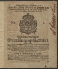 Wochentlich-Stettinische Frag- und Anzeigungs-Nachrichten. 1750 No. 1