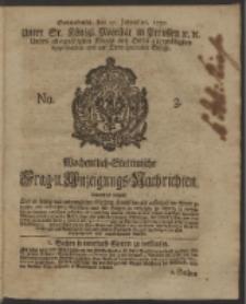 Wochentlich-Stettinische Frag- und Anzeigungs-Nachrichten. 1750 No. 3