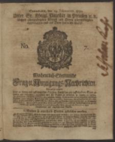 Wochentlich-Stettinische Frag- und Anzeigungs-Nachrichten. 1750 No. 7