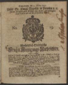 Wochentlich-Stettinische Frag- und Anzeigungs-Nachrichten. 1750 No. 19
