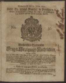 Wochentlich-Stettinische Frag- und Anzeigungs-Nachrichten. 1750 No. 30