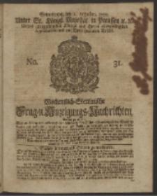 Wochentlich-Stettinische Frag- und Anzeigungs-Nachrichten. 1750 No. 31