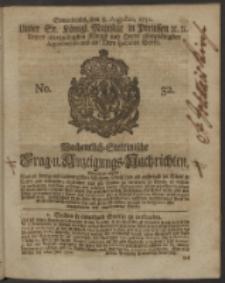 Wochentlich-Stettinische Frag- und Anzeigungs-Nachrichten. 1750 No. 32