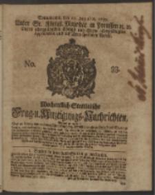 Wochentlich-Stettinische Frag- und Anzeigungs-Nachrichten. 1750 No. 33