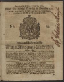 Wochentlich-Stettinische Frag- und Anzeigungs-Nachrichten. 1750 No. 34
