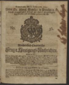 Wochentlich-Stettinische Frag- und Anzeigungs-Nachrichten. 1750 No. 36