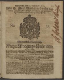 Wochentlich-Stettinische Frag- und Anzeigungs-Nachrichten. 1750 No. 37