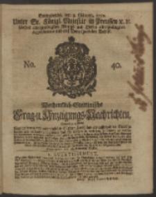 Wochentlich-Stettinische Frag- und Anzeigungs-Nachrichten. 1750 No. 40
