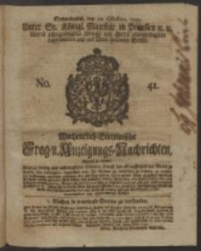 Wochentlich-Stettinische Frag- und Anzeigungs-Nachrichten. 1750 No. 41