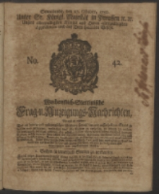 Wochentlich-Stettinische Frag- und Anzeigungs-Nachrichten. 1750 No. 42