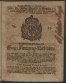 Wochentlich-Stettinische Frag- und Anzeigungs-Nachrichten. 1750 No. 43