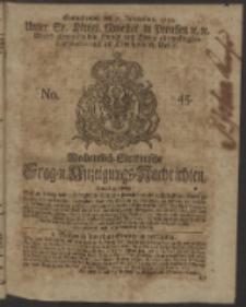 Wochentlich-Stettinische Frag- und Anzeigungs-Nachrichten. 1750 No. 45