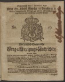 Wochentlich-Stettinische Frag- und Anzeigungs-Nachrichten. 1750 No. 49
