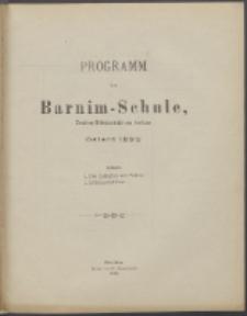 Programm der Barnim-Schule Knaben-Mittelschule zu Stettin. 1899