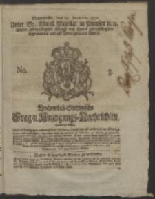 Wochentlich-Stettinische Frag- und Anzeigungs-Nachrichten. 1752 No. 3