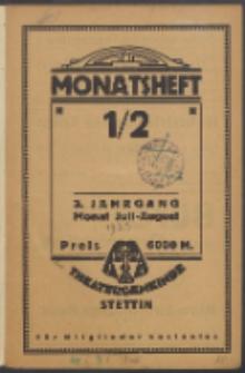 Monatsheft der Theatergemeinde e.V. Stettin. Jg. 3, 1923 H. 1-2