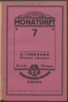 Monatsheft der Theatergemeinde e.V. Stettin. Jg. 3, 1924 H. 7