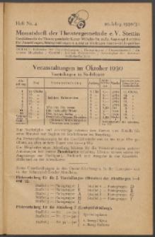 Monatsheft der Theatergemeinde e.V. Stettin. Jg. 10, 1930/1931 H. Nr. 4