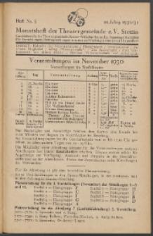 Monatsheft der Theatergemeinde e.V. Stettin. Jg. 10, 1930/1931 H. Nr. 5