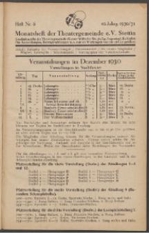 Monatsheft der Theatergemeinde e.V. Stettin. Jg. 10, 1930/1931 H. Nr. 6