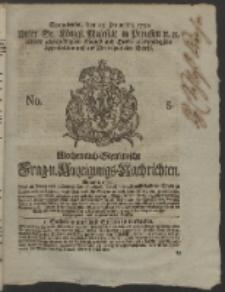 Wochentlich-Stettinische Frag- und Anzeigungs-Nachrichten. 1752 No. 5